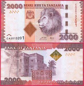 TANZANIA 2,000 SHILLINGS 2010-2020 P42 BANKNOTE UNC