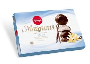 Laima zephyr in chocolate  with vanilla taste Maigums 185g