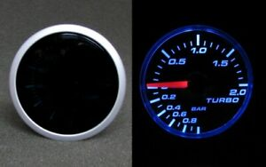 Pressione di Carica Indicatore Strumento Fumare Linea Turbo Boost Blu Top
