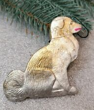Vintage Dog the Friend Antique Christmas Decoration Dresden Cardboard Ornament