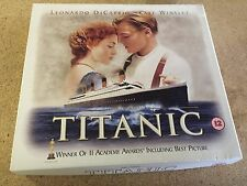 RARE Original TITANIC Limited Edition VHS Boxed Set : Cards + Mounted Film Cell