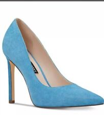 Nine West Tatiana Pointy Toe Pumps Heels Sea Blue Suede Size 5/35 New