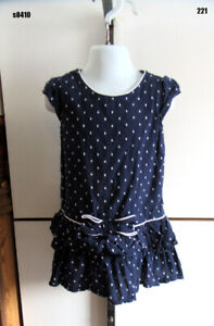 Gymboree Dress Toddler Girls Blue Size 4 Short Sleeve Polka Dot