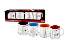Star Wars - 4 Espresso Tassenset / Mug Set - The Force Awakens - Blueprints