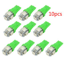 10x T10 5050 W5W 5 SMD 194 168 LED Car Side Wedge Tail Light Lamp Bulb Green