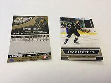 2014-15 David Henley Charlottetown Islanders Hockey Card