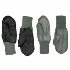 Genuine Swiss Military Real Wool Leather Palm Gloves Cold Weather Mittens Sizes