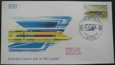 FRANCE FDC TGV postal 08-09-1984 Lyon