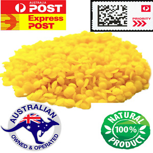 100% Pure Natural Yellow Beeswax Pellet FREE Jojoba Oil 500g-5kg- ON SALE NOW!