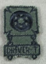 """US Army Subdued Cloth Qualification Badge """" Driver T """" Patch"""