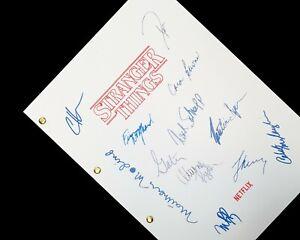 Stranger Things TV Script Pilot Signature Autograph Reprint Winona Ryder Montauk