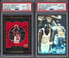2 Card Michael Jordan Foil Lot 1991 Award Winners 1995 Predictor PSA 8 MINT 8.5