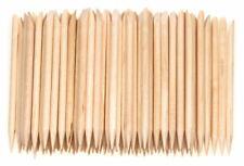 100 pcs Cuticle Pusher Remover Wood Sticks Orange Nail Art Manicure Disposable