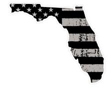 Florida State (N1) Distressed Flag Vinyl Decal Sticker Car/Truck Laptop Window