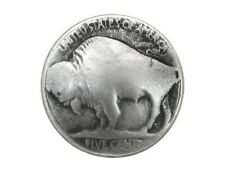 12 Buffalo Nickel 5/8 inch ( 15 mm ) Metal Buttons Antique Silver Color