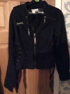 Punk Biker Woman's Zipped Goth Jacket
