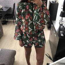 Dollshouse Fashion Paisley Green Floral Playsuit Open Back