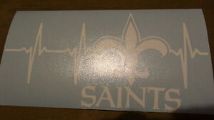 New Orleans Saints Life car decal