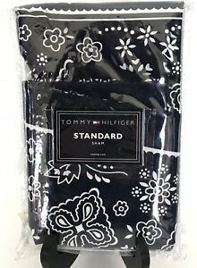 Tommy Hilfiger Vintage Jack Navy Western Sham Handkerchief Pillow Blue New