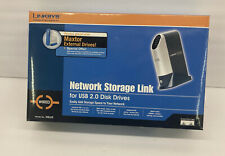 Linksys Network Storage Link NSLU2 for USB 2.0 Disk Drives New Open Box