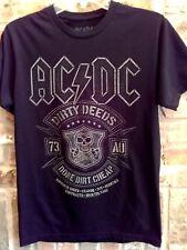 S black T Shirt AC DC dirty deeds done dirt cheap CONCERT skull SWORD music TOUR