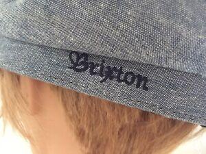 Brixton Extra Large Naval Navy Cap 62cm 7 3/4 Cotton Linen