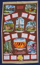 1983 Calendar Vintage Retro Vintage Souvenir COTTON Tea Towel Australia Sights