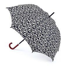 Lulu Guinness by Fulton Kensington-2 Cut Out Logo Umbrella