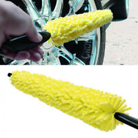 Sponge Wheel Tire Rim Scrub Brush Car Wash Washing Quick Cleaning Tool Plastic