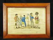 Ecossais et Englais :framed print scottish costume Victorian fashion uniform