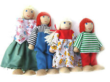 New Family made of Wood and Fabric for Doll House or Play