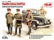 ICM 1/35 Opel Kapitan Saloon Staff Car w/ Soviet Staff Personnel # 35477