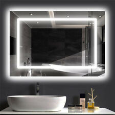Bathroom Vanity Mirror Led Backlit Wall Mounted Defogger & Dimmable Touch Switch