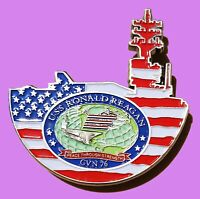 "US NAVY RONALD REAGAN CVN-76  CHALLENGE COIN CHIEF PETTY OFFICER CPO  2"" 96"