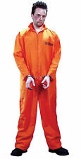 Got Busted Orange Adult Costume Penitentiary  Prison Jail Convict Halloween