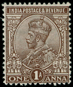 INDIA SG197, 1a chocolate, VLH MINT.