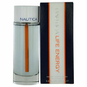 NAUTICA LIFE ENERGY Men cologne edt 3.4 oz 3.3 NEW IN BOX