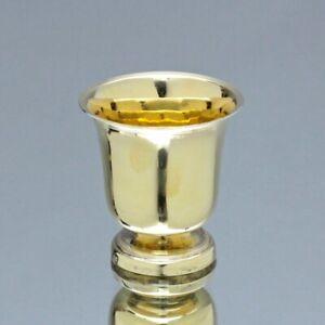 Paris um 1840: kleiner Schnapsbecher, Silber vergoldet, Stamper, Becher, Vermeil