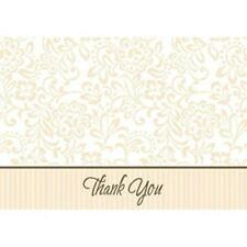 Wedding Traditions Gold Anniversary Party Thank You Notes Cards w/Envelopes