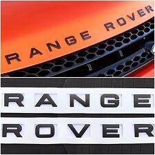 NEW (1 SET) RANGE ROVER MATTE BLACK HOOD OR TRUNK EMBLEM NAMEPLATE DECAL EM-113