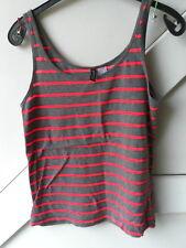 DIVIDED Shirt DamenShirt Baumwolle Elasthan gestreift d.grau pink Gr. 36