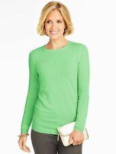 NEW $149 TALBOTS Pistachio,Green Cashmere Crewneck Sweater Sz P XS ( 2P,4P )