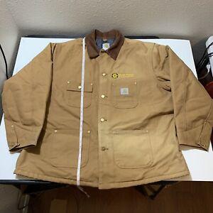 Vintage Carhartt Detroit Wool Blanket Lined Work Jacket 52 XXL Union Made Coat