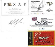 GOLD  MEDAL CANADIAN WOMEN'S HOCKEY CAPTAIN CASSIE CAMPBELL SIGNED BUSINESS CARD