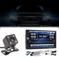 "2-Din 7"" Touch Screen FM Bluetooth Radio Audio Stereo Car Video Player+HD Camera"