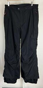Obermeyer Black Nylon Winter Skiing Snowboard Snow Pants Men's Size Large Short