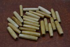 "25 PCS COFEE BROWN BONE HAIR PIPE CHOKER BEADS PENDANTS 1 1//2/"" #T-2303"