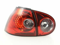 VW GOLF MK5 5 MK 5 CLEAR LED REAR TAIL BACK LIGHTS RIGHT HAND DRIVE