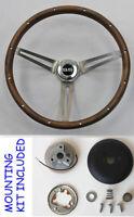"Chevelle Impala Nova Monte Carlo Grant Steering Walnut Wheel Wood 15"" SS Cap"