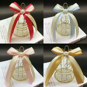 30pcs Wedding Candy Box Tinplate Birdcage Bell Bags With Handles Chocolate S3 G6